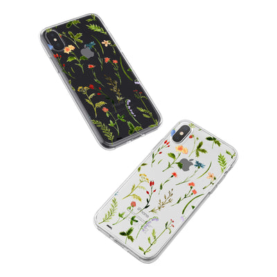 Wildflower iPhone X Case Clear