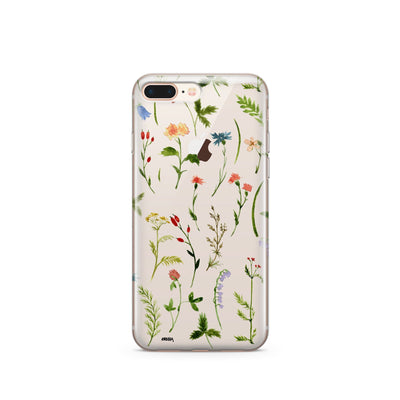 Wildflower - Clear Case Cover - Milkyway Cases -  iPhone - Samsung - Clear Cut Silicone Phone Case Cover