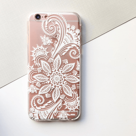 Winter Henna - Clear TPU Case Cover