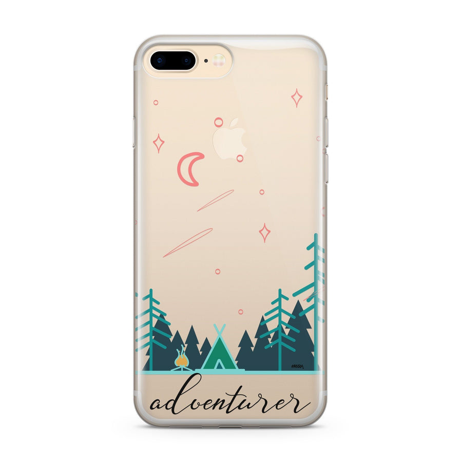 Adventurer' - Clear Case Cover - Milkyway Cases -  iPhone - Samsung - Clear Cut Silicone Phone Case Cover