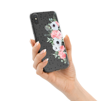 Anemone Rose iPhone X Case Clear
