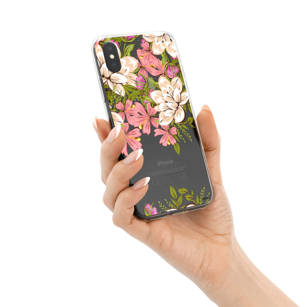 Angela Floral iPhone X Case Clear