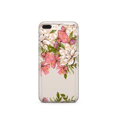 Angela Floral - Clear TPU Case Cover - Milkyway Cases -  iPhone - Samsung - Clear Cut Silicone Phone Case Cover