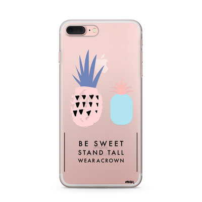 Wear A Crown - Clear Case Cover - Milkyway Cases -  iPhone - Samsung - Clear Cut Silicone Phone Case Cover