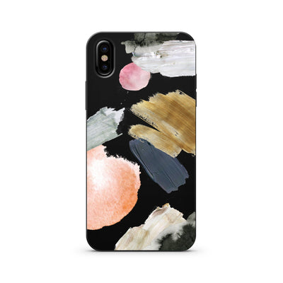 Black Wood Printed - Abstract Party - Milkyway Cases -  iPhone - Samsung - Clear Cut Silicone Phone Case Cover