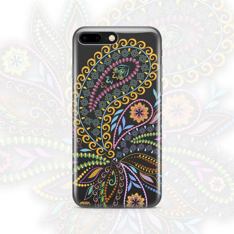 'Bohemian Vibes' - Clear TPU Case Cover