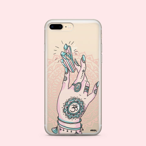 'Boho Magic' - Clear TPU Case Cover