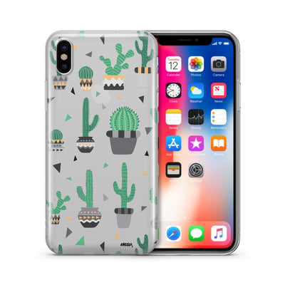 Cactus Party - Clear TPU Case Cover - Milkyway Cases -  iPhone - Samsung - Clear Cut Silicone Phone Case Cover
