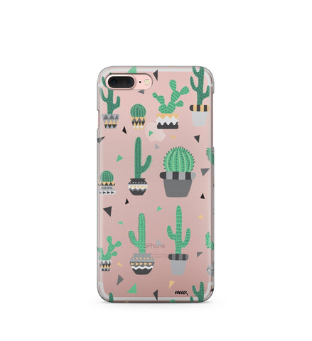 """CLEARANCE"" iPhone 6 Clear TPU Case Cover - Cactus Party"