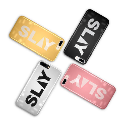 Chrome Shiny TPU Case - Slay - Milkyway Cases -  iPhone - Samsung - Clear Cut Silicone Phone Case Cover