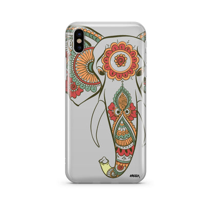 colored Tribal Elephant iphone case