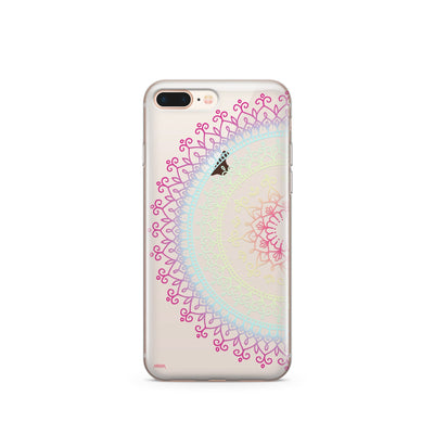 @Okitssteph X Milkyway Cases Cotton Candy Mandala - Clear Case Cover - Milkyway Cases -  iPhone - Samsung - Clear Cut Silicone Phone Case Cover