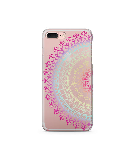 """CLEARANCE"" iPhone 6 Clear TPU Case Cover - Cotton Candy Mandala"