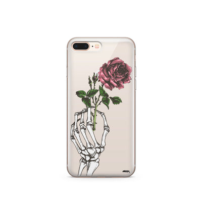 Crane Rose iPhone & Samsung Clear Phone Case Cover - Milkyway Cases -  iPhone - Samsung - Clear Cut Silicone Phone Case Cover