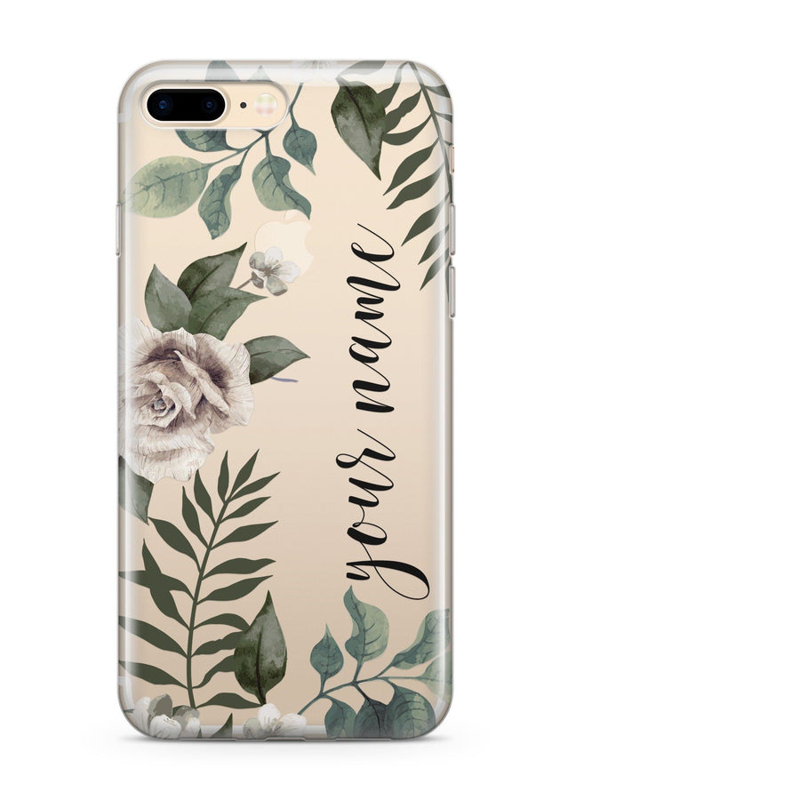 Custom Leaf iPhone & Samsung Clear Phone Case Cover
