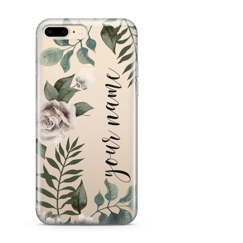 customize phone case with leaves
