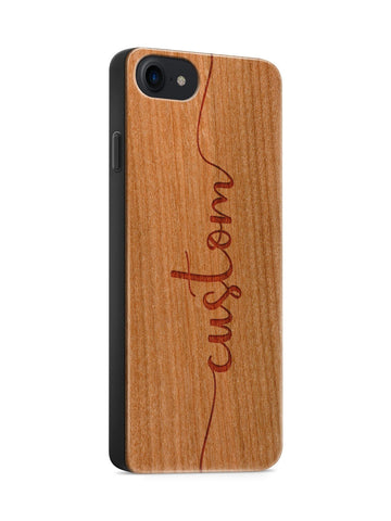 'Custom Name' - Wood Case Cover