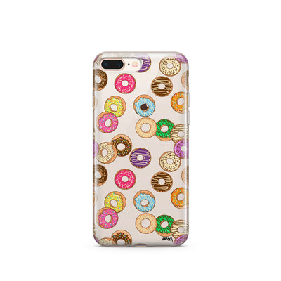 Donut Pandemonium - Clear TPU Case Cover - Milkyway Cases -  iPhone - Samsung - Clear Cut Silicone Phone Case Cover