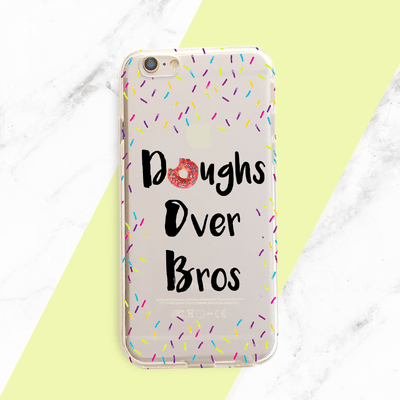 Doughs Over Bros - Clear TPU Case Cover - Milkyway Cases -  iPhone - Samsung - Clear Cut Silicone Phone Case Cover
