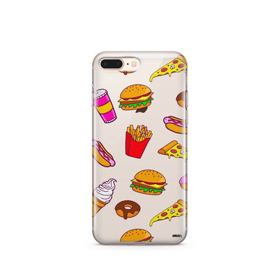 Fast Food - Clear TPU Case Cover - Milkyway Cases -  iPhone - Samsung - Clear Cut Silicone Phone Case Cover