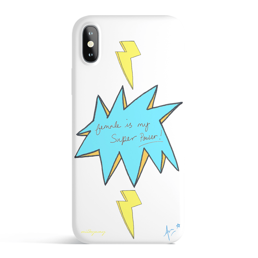 Female Is My Super Power - White iPhone Case