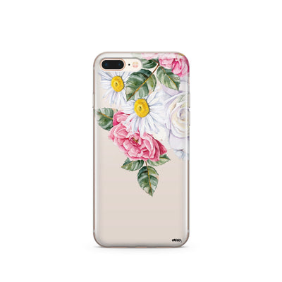 Floral Chandelier - Clear TPU Case Cover - Milkyway Cases -  iPhone - Samsung - Clear Cut Silicone Phone Case Cover