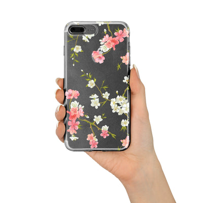 Floral Shabby Chic - Clear TPU Case Cover - Milkyway Cases -  iPhone - Samsung - Clear Cut Silicone Phone Case Cover