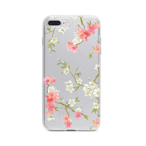 Floral Shabby Chic - Clear TPU Case Cover