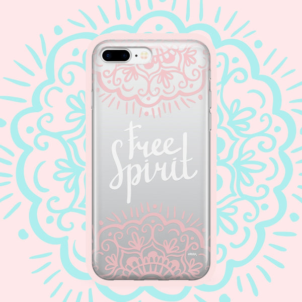 Free Spirit' - Clear Case Cover - Milkyway Cases -  iPhone - Samsung - Clear Cut Silicone Phone Case Cover