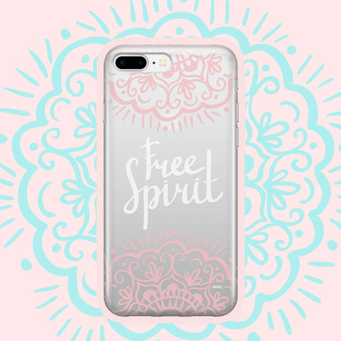 'Free Spirit' - Clear TPU Case Cover