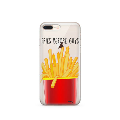Fries Before Guys - Clear TPU Case Cover - Milkyway Cases -  iPhone - Samsung - Clear Cut Silicone Phone Case Cover