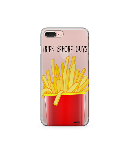 """CLEARANCE"" iPhone 6 Clear TPU Case Cover - Fries Before Guys"