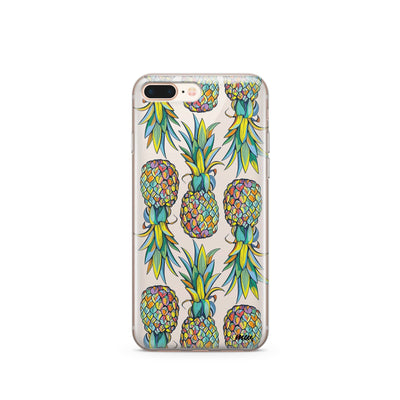 Hawaiian Pineapple iPhone & Samsung Clear Phone Case Cover Milkyway iPhone Samsung Clear Cute Silicone 8 Plus 7 X Cover