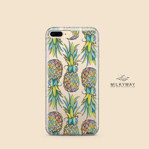 'Hawaiian Pineapple' - Clear TPU Case Cover