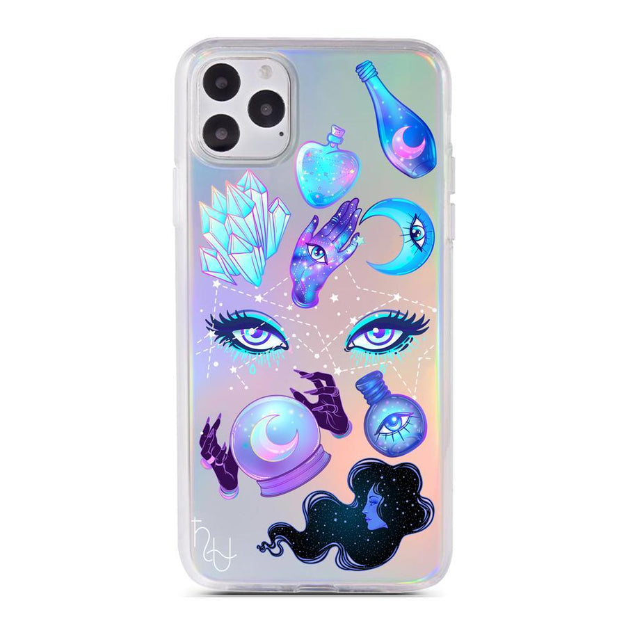 HHHU Cast Your Spell Holographic Case - Clear Cut Silicone iPhone Cover - Milkyway Cases