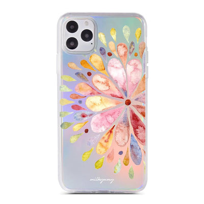 Blissful Mandala - Holographic iPhone Case