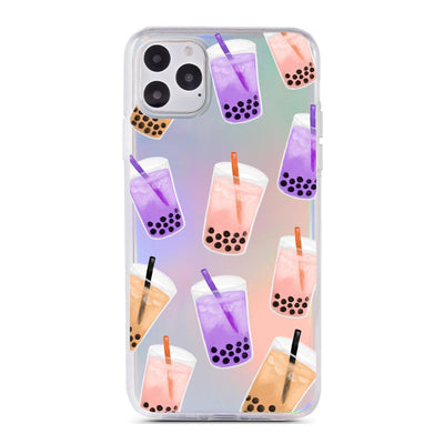 Boba Bubble Tea - Holographic iPhone Case