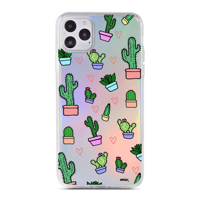 Cactus Love - Holographic iPhone Case