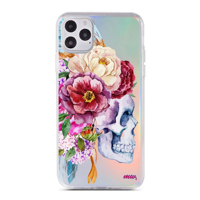 Craneo De La Flor - Holographic iPhone Case