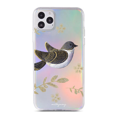 Elegant Goldfinch - Holographic iPhone Case