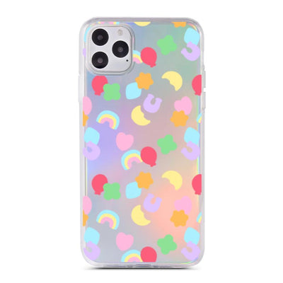 Lucky Charms Holographic Case - Clear Cut Silicone iPhone Cover - Milkyway Cases