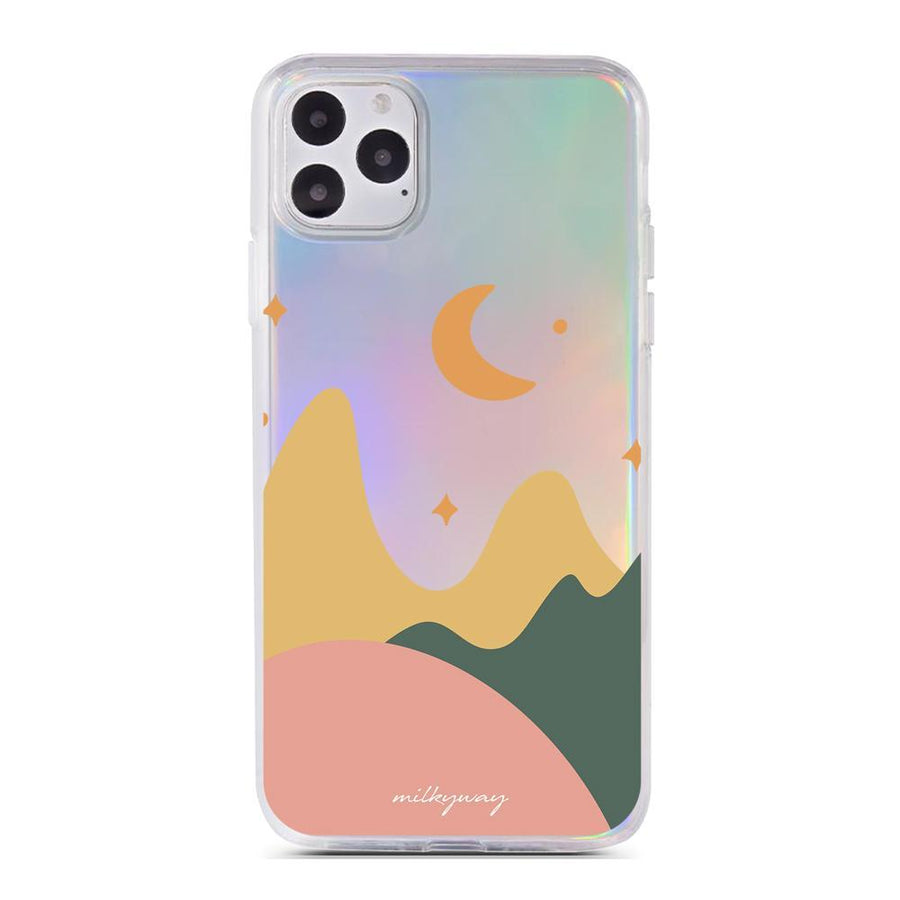 Moondala Holographic Case - Clear Cut Silicone iPhone Cover - Milkyway Cases
