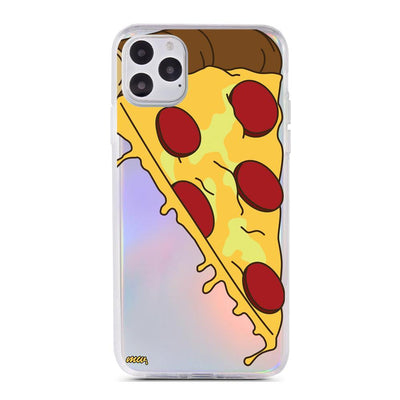 Cheesy Pizza - Holographic iPhone Case