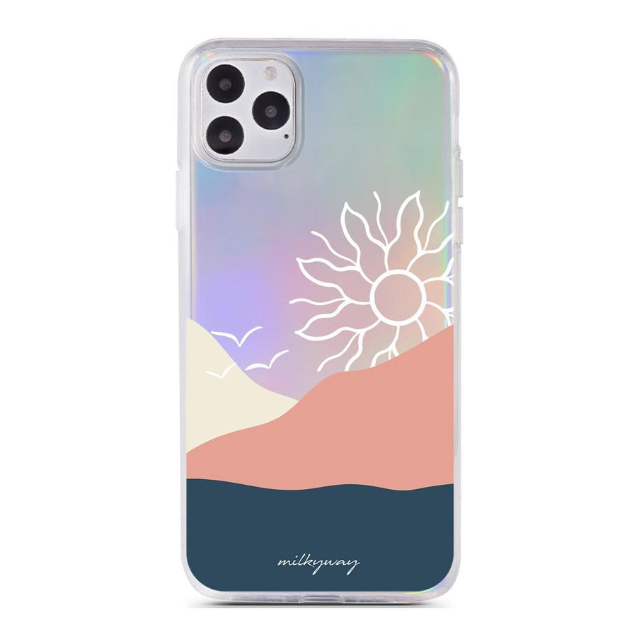 Sundala Holographic Case - Clear Cut Silicone iPhone Cover - Milkyway Cases