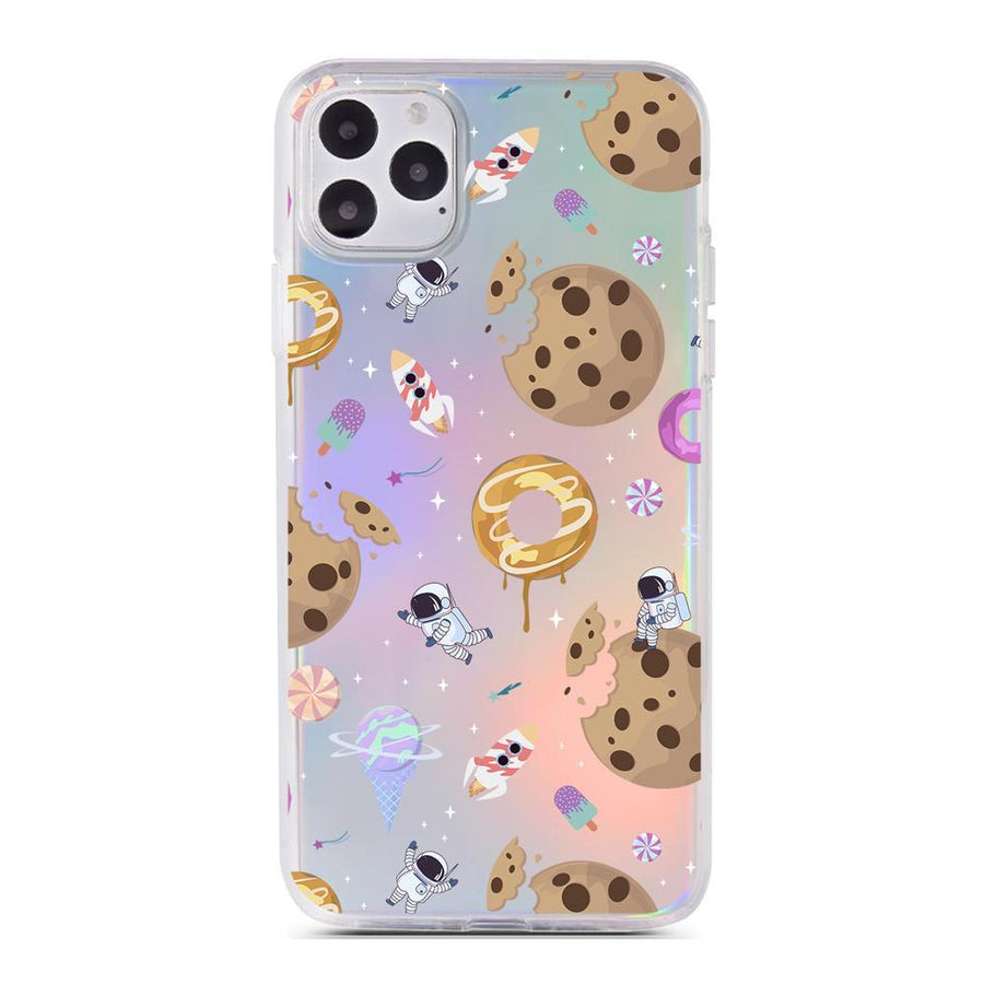 Sweet Space Holographic Case - Clear Cut Silicone iPhone Cover - Milkyway Cases