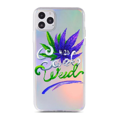 Sweet Weed - Holographic iPhone Case