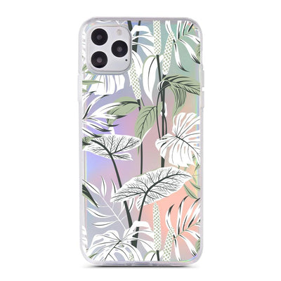 Tropical Mint - Holographic iPhone Case