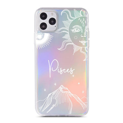 Zodiac Pisces - Holographic iPhone Case