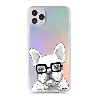Frenchie - Holographic iPhone Case