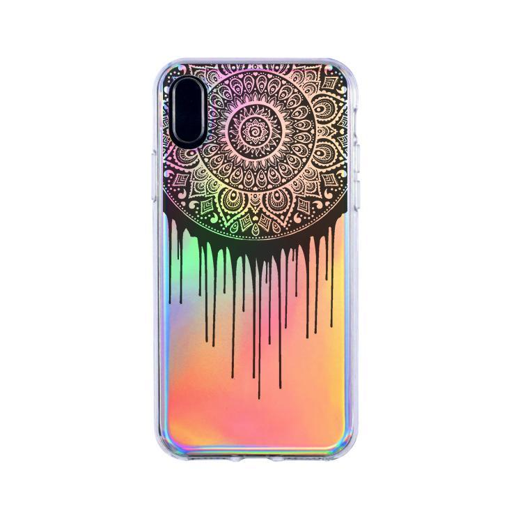 Holographic iPhone Case Cover - Dripping Mandala